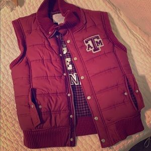 PINK Collegiate Collection Vest - Texas A&M